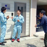 大阪出張所社員、取材を受ける。