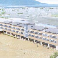 角鹿小中学校校舎 新築工事の安全祈願祭